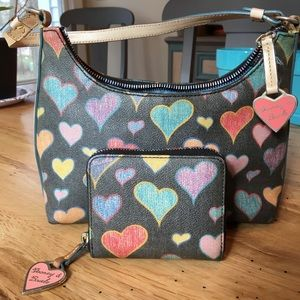 Dooney & Bourke Vintage Heart Pattern Purse/Wallet
